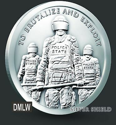1 Oz .999 Silver Shield Slave Police State - Sbss - Freedom Girl Trivium Limited