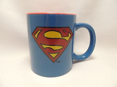 DC Comics Superman Coffee Cup Mug 14 Oz. Blue with Red New