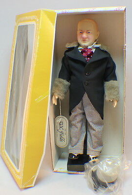 Vintage Effanbee W.C. Fields Doll in original box with black Podium Stand