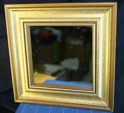 17Th- 18Th C. Looking Gold Gilded Camp Shaving Mirror Reenactor Pirate Sailor