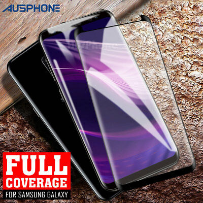 FULL COVER Tempered Glass Screen Protector for Samsung S9 Plus S8 S7 Edge Note 8