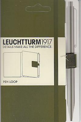Leuchtturm1917 Pen Loop / Holder - Army Green