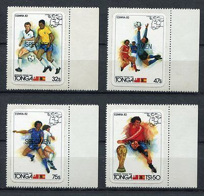 s5877) TONGA 1982 MNH** WC Football'82 - CM Calcio 4v S-A SPECIMEN