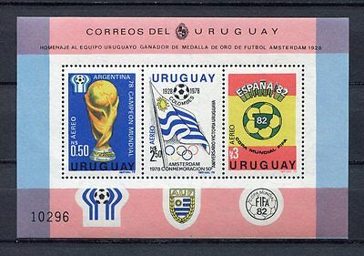 s5890) URUGUAY 1979 MNH** WC Football'82 - CM Calcio S/S