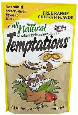Whiskas All Natural Temptations - Free Range Chicken - 2.47 oz (WHK-016) NEW
