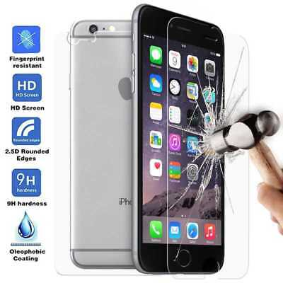 Protector Cristal Templado Frontal y Trasero para iPhone 6 6S S Tempered Glass