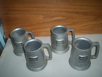 Lot of 4 Vintage Ford Tractors Equipment Pewter Mugs Steins Lot (Embossed Logo)