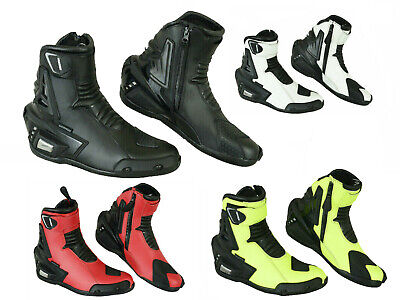 Pro First Motorbike Real Leather Boots Mens Motorcycle Waterproof Bikers Shoes