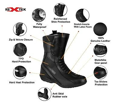 Pro First Motorcycle Leather New Fashion Boots Mens Motorbike Waterproof Shoes