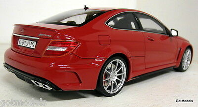 GT Spirit 1/18 Scale Mercedes Benz C63 AMG red Resin cast Model Car