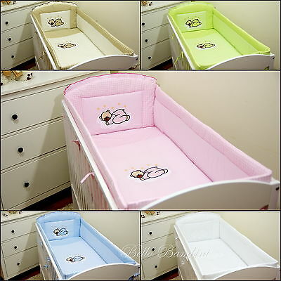 Luxury ALL ROUND NURSERY BUMPER/420/360cm long/Padded 4 Sided/Cot Bed  COTTON!!!