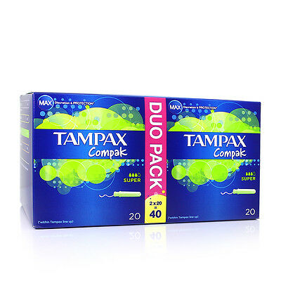 Tampax Compak Duo Application Tampon Super 2 x 20
