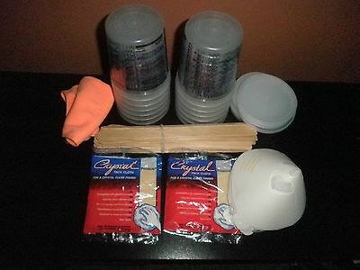 Paint Refinishing Kit: Mixing Cups, Lids, Strainers, Paint Sticks, Tack Cloth