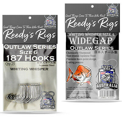 5 Whiting Rig Paternoster Hook Sze #4 Fishing Bottom Rigs Black King George