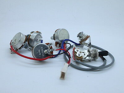 Genuine Epiphone Les Paul Wiring Harness with Full Size 500K Potentiometer