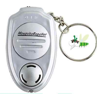 2016 Ultrasonic Anti Mosquito Insect Repeller Keychain W/Light Perfect Gadget BO