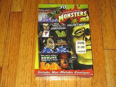 1990's Universal Studios Monsters Valentines Cards New Sealed