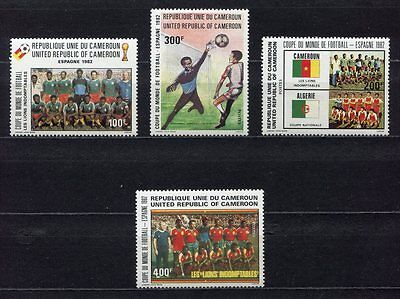 s5563) CAMEROUN 1982 MNH** World Cup Football - Coppa Mondo Calcio 4v