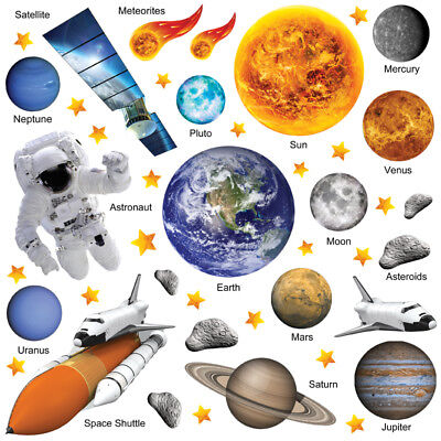 Planet Wall Stickers Solar System Wall Stickers Space Wall Stickers SSYS 03