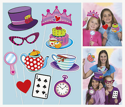 Photo Props x10 Tea Party Childrens Birthday Game