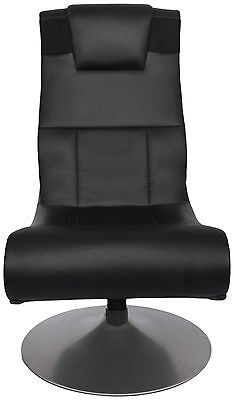 X Rocker X Pedestal Luxury Adjustable Gaming Chair with Speakers and Subwoofer.