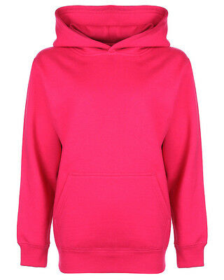FDM Junior Hoodie Fuchsia Pink Kids Hooded Sweatshirt age 11-12 years Girls