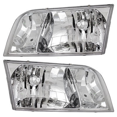 98-11 Ford Crown Victoria New Headlights Headlamps Pair Set of 2 Left & Right