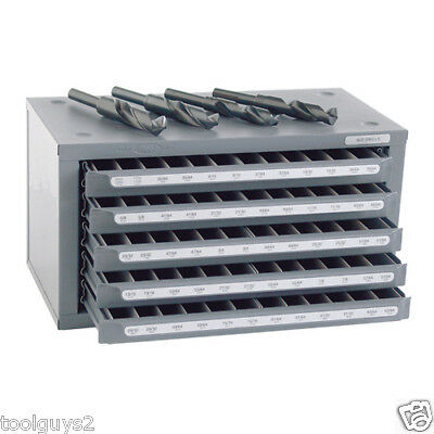 Huot S&d Reduced Shank  Drill (33/64 To 63/64) Dispenser Organizer Cabinet 13166