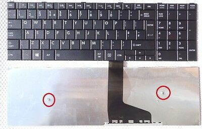 New Toshiba Satellite C50-A-19T Replacement Black Uk Laptop Keyboard Layout