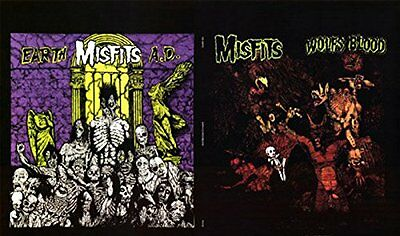 MISFITS - EARTH AD & WOLFS BLOOD ALBUM POSTER - 24x36 BAND MUSIC 702