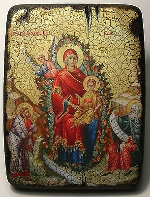 Handmade copy ancient ORTHODOX CHURCH ICON Mother of God The Unburnt Bush 47L