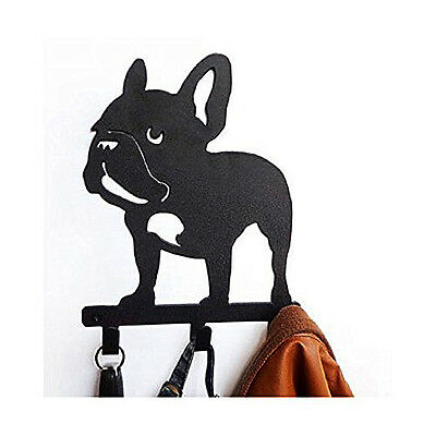Frenchie French Bulldog Wall Metal Rack Hat Hanger Key Holder Hook Home Decor
