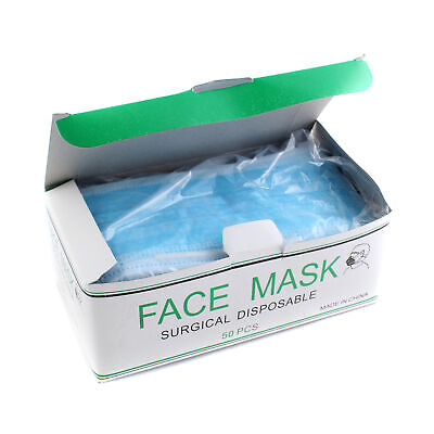 50pcs/box Disposable Surgical Face Salon Dust Cleaning Ear Loop Flu Medical Mask