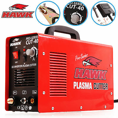 HAWK 40A 12mm CUT STEEL HF START 230v INVERTER AIR PLASMA CUTTER CUTTING MACHINE