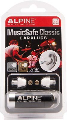 Alpine Hearing Protection MusicSafe Classic Earplugs for Musicians Hearing Gear