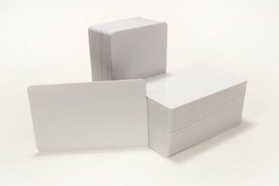 100 Blank Inkjet PVC ID Cards Double Sided Printing Office Supplies Paper Cards