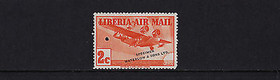 Liberia - 1938 Airmail 2c - Perforated Proof in Orange - SEE NOTES