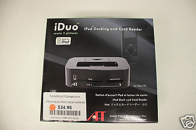 Atech iDuo iPod Charging Dock with Card Reader