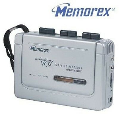 Memorex Full Size Cassette Recorder,Player,built In Speaker Voice Activated Sys