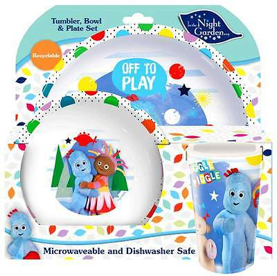 In The Night Garden 3-Piece Dinner Set | Tableware | Tumbler, Bowl and Plate