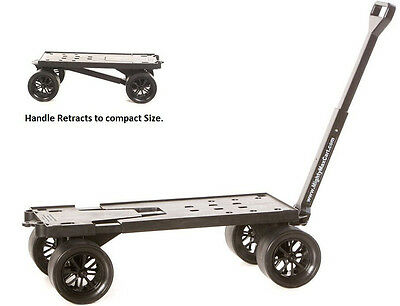 Flatbed 4 Wheel Cart Dolly Platform Moving Yard Carts Hand Pull Wagon Catering