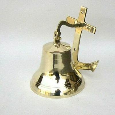 "7"" Brass Anchor  Bell ~ Nautical Bell ~ Anchor Bell ~ Pirate ~ Maritime ~  Bell"