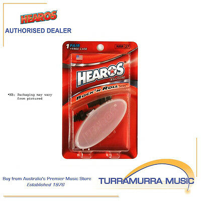 Hearos HS309 Rock 'N Roll Reusable Washable Ear Plugs with Case Noise Reduction