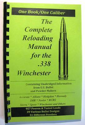 .338 Winchester Magnum Reloading Manual LOADBOOKS  USA  338 Win Mag  NEW