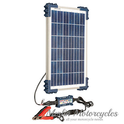 Solar Powered Optimate 12V Motorcycle Scooter Battery Charger Optimiser Diagnose