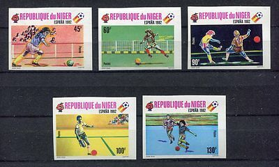 s5789) NIGER 1980 MNH** World Cup Football'82 - CM Calcio 5v IMPERF