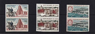 Mali - 1961 Air Values - U/M - IMPERF PAIRS - SG 26-8