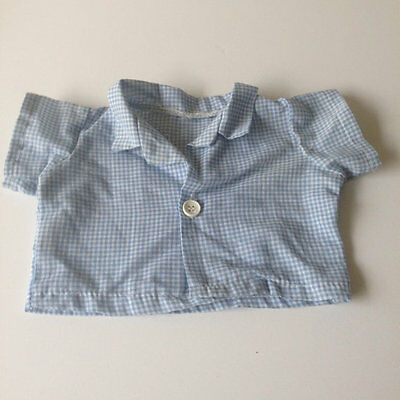 Vintage Cabbage Patch Kids Boy Doll Shirt Blue Coleco 16D  Clothing Cpk Top