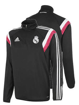 Real Madrid Adidas Training Sweatshirt Felpa Top Schwarz 2014 15 ClimaCool