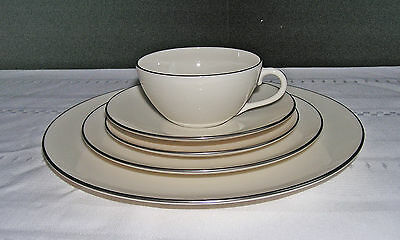 Lenox China Olympia Platinum 5 Pc Place Setting - Made In Usa